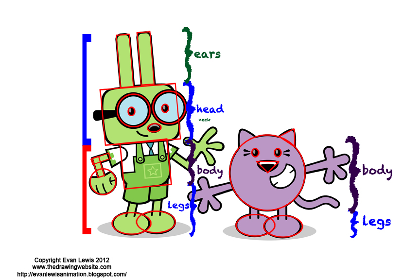 Cartoon Characters Using Shapes : Image gallery shape characters