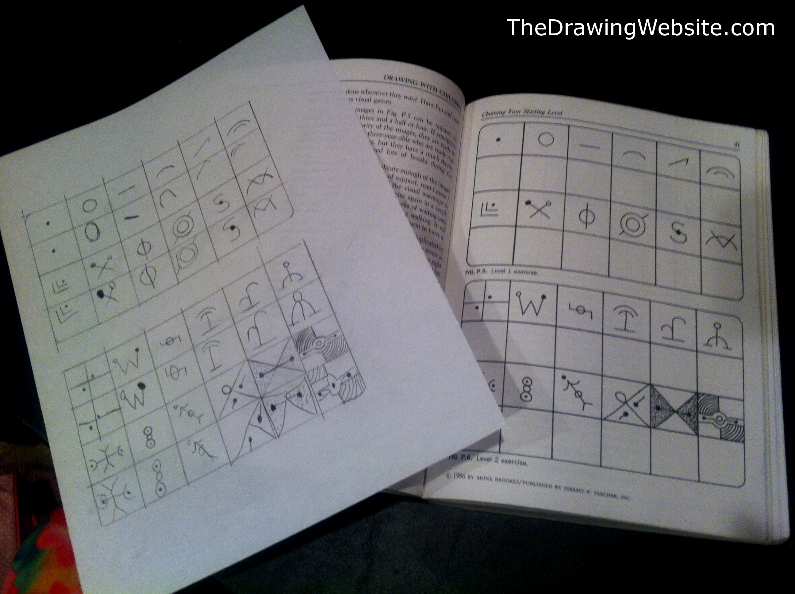 Drawing With Children and 6 year old daughter test