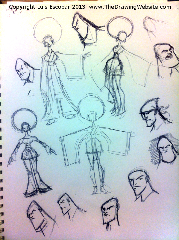 Draw Fu Comic Designs 06