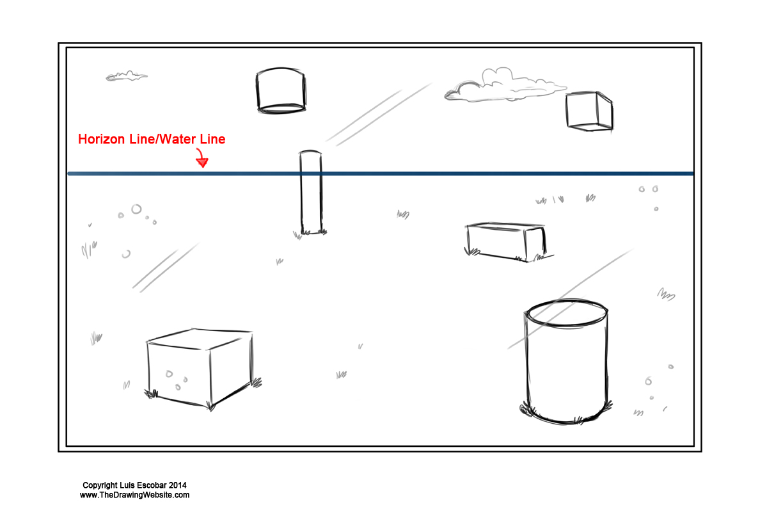 Perpective Horizon Line as water example