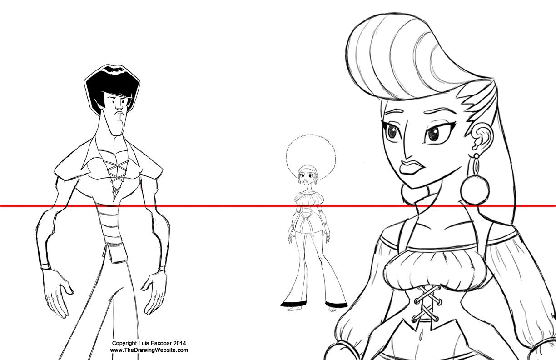 Adjusting characters on the Horizon line