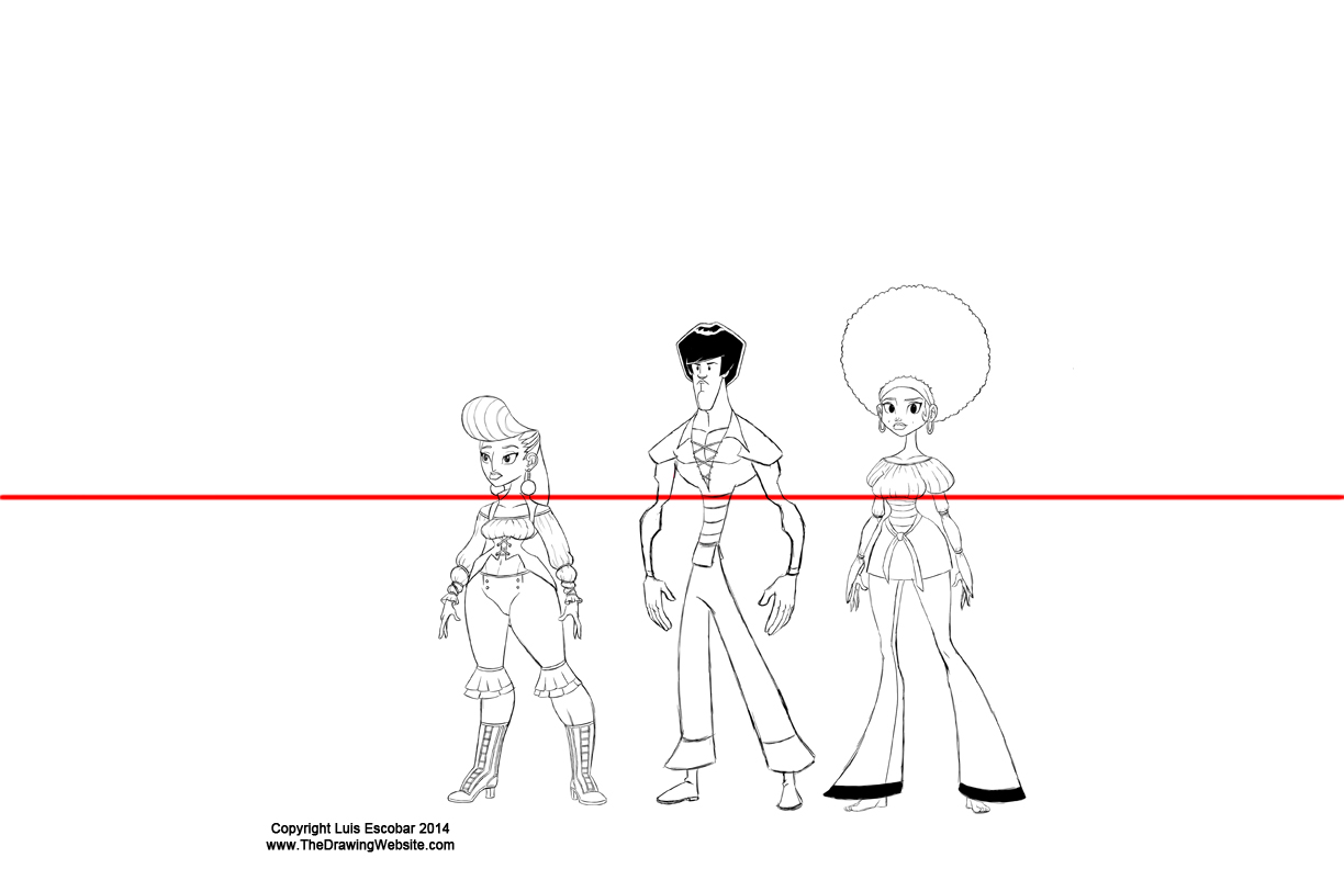 Character line up with Horizon line