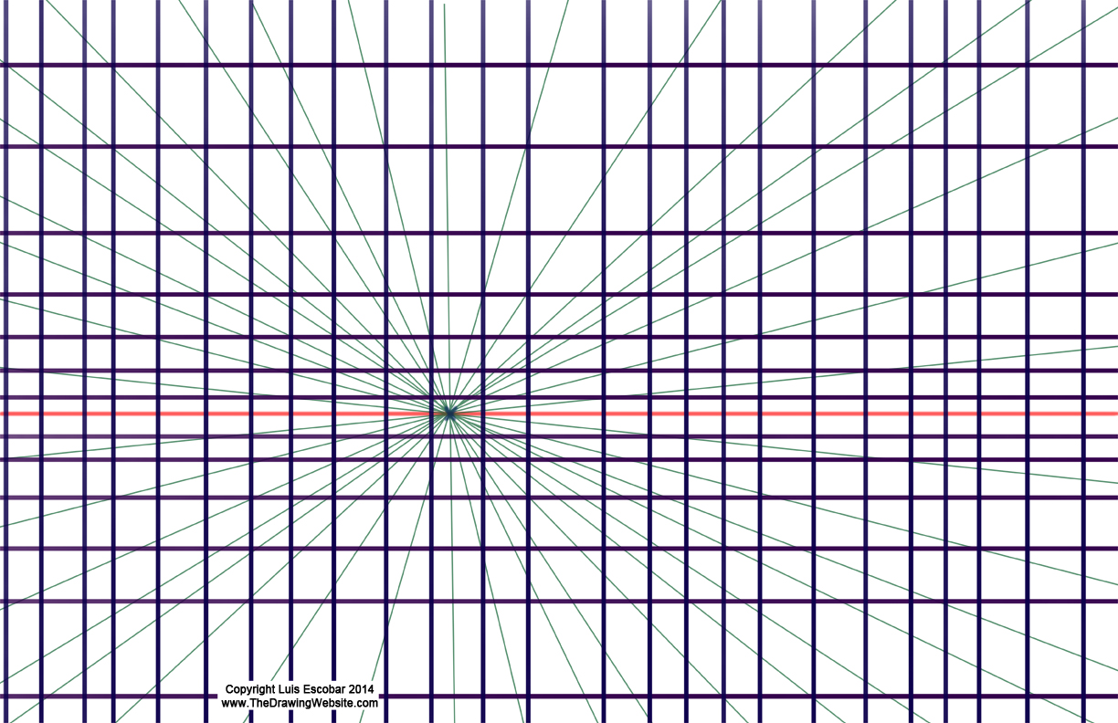 Drawing Using Only Horizontal Lines : Draw fu perspective secrets basic principles the