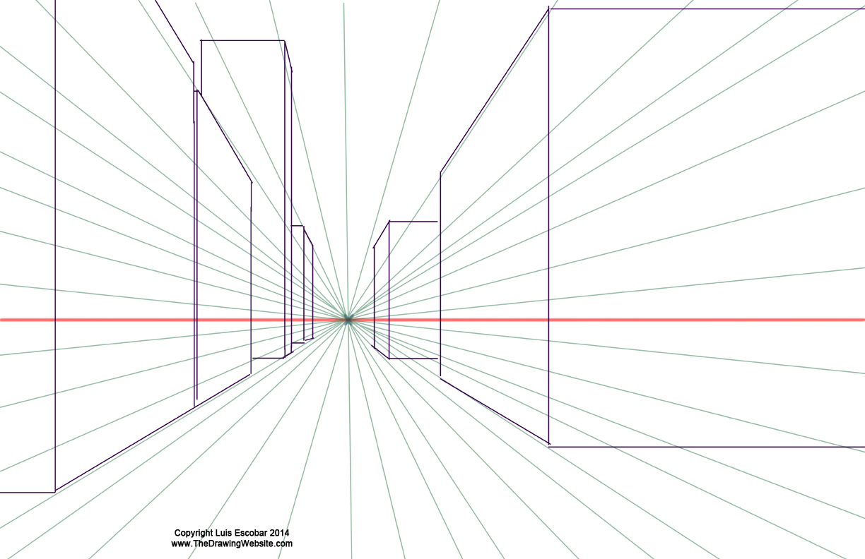 One point perspective boxes