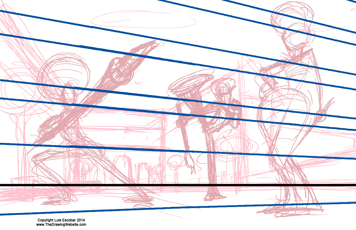 Finding the correct Vanishing point off the page