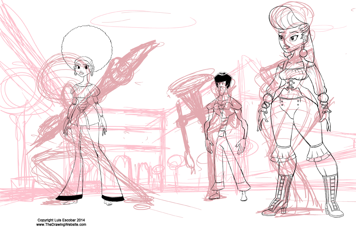 Placing a modelsheet character in space part 2
