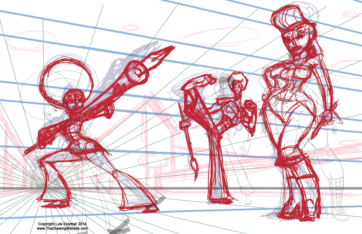 Second Rough Pass of characters