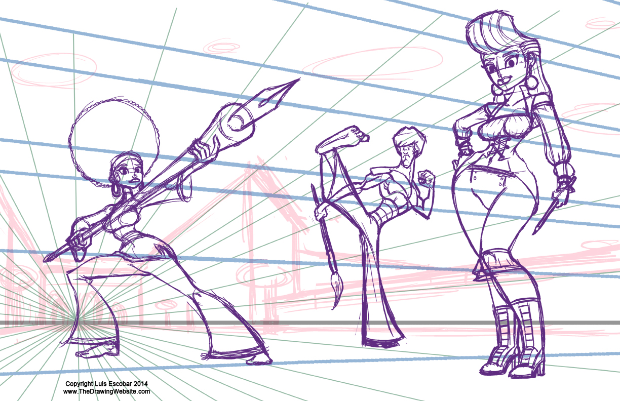 third Rough Pass of characters clearer