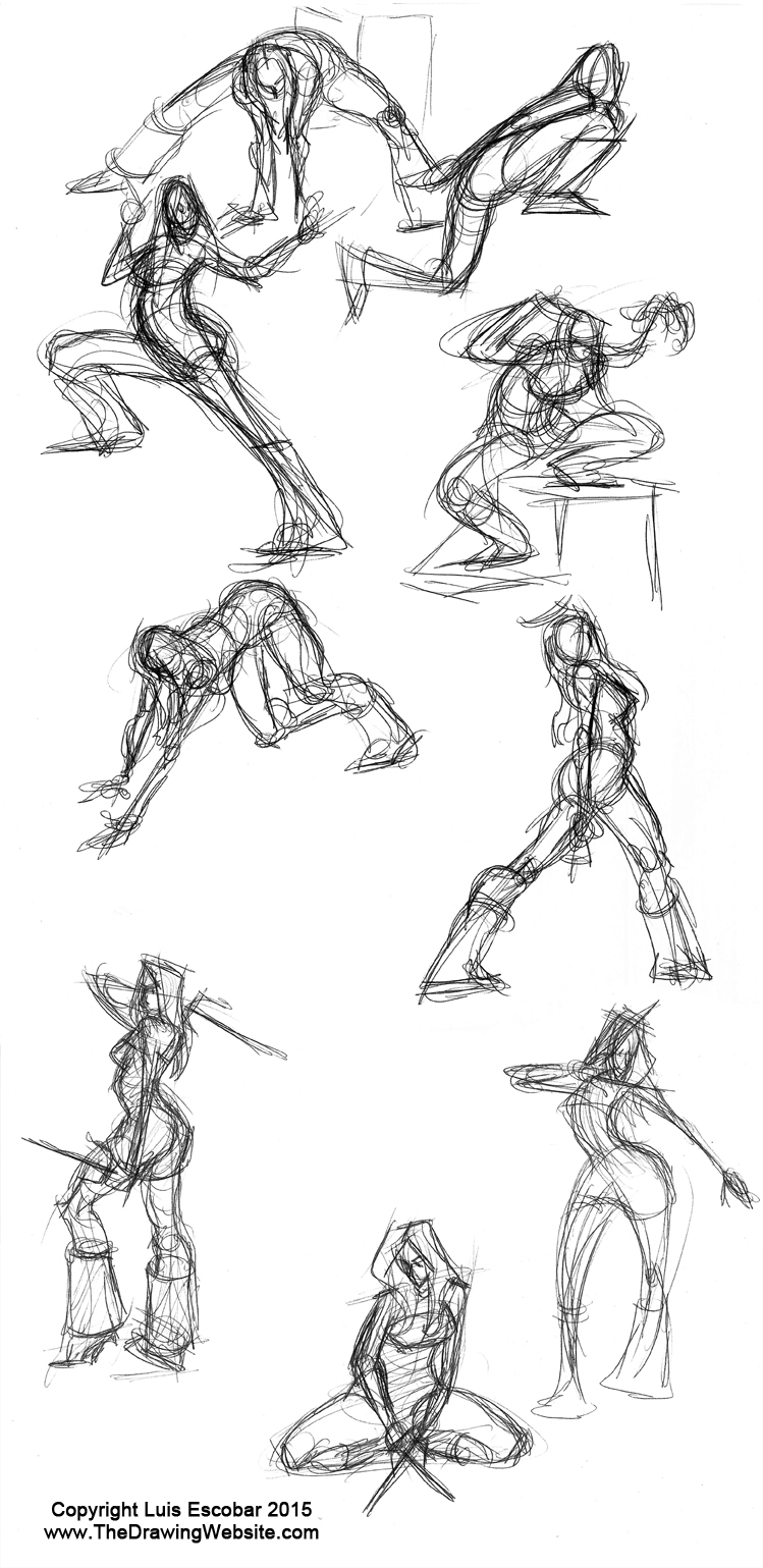 Scribble Gesture Drawing : The key to flow power and dynamism mastering gesturethe