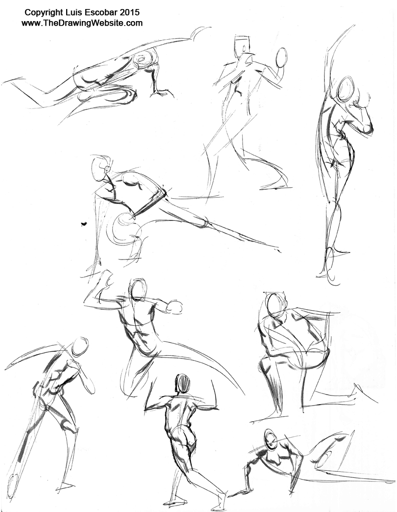 Figure drawing gesture drawing