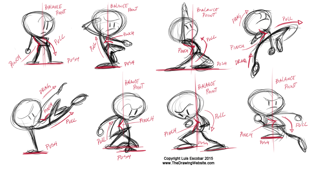 Gesture poses forces