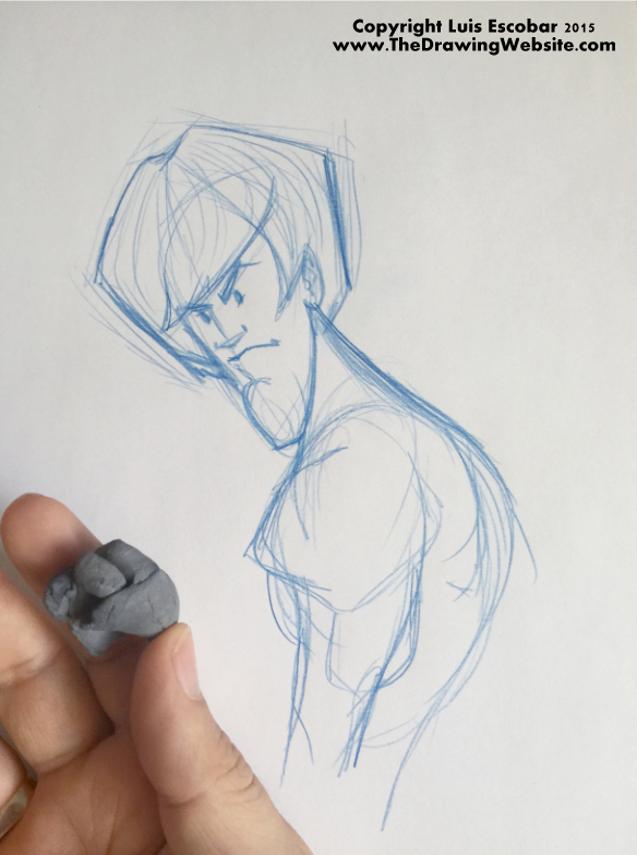 Using a Kneaded Eraser 01