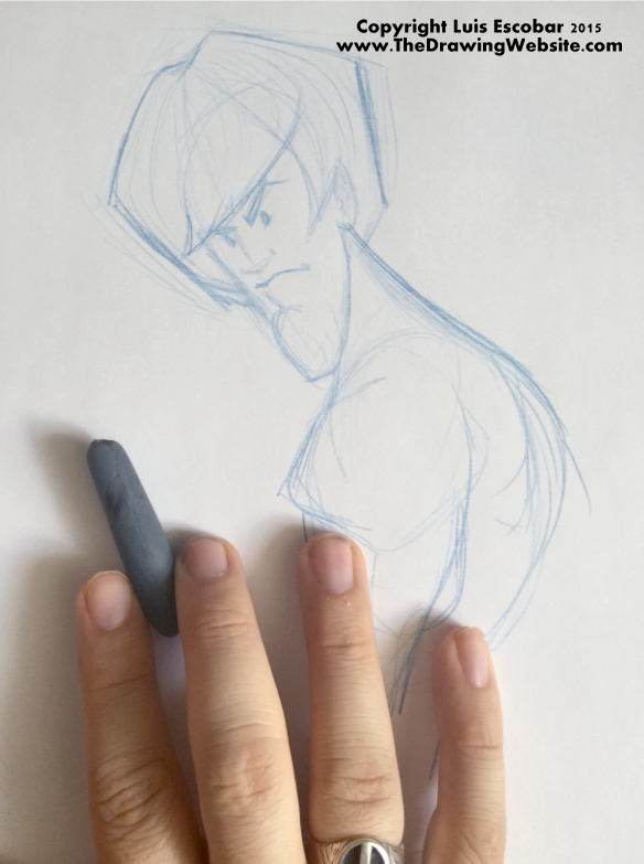 Using a Kneaded Eraser 04