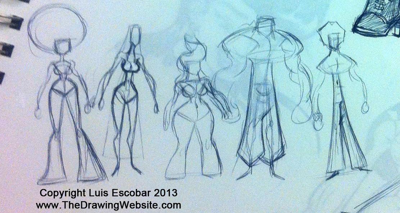 Character shape line up