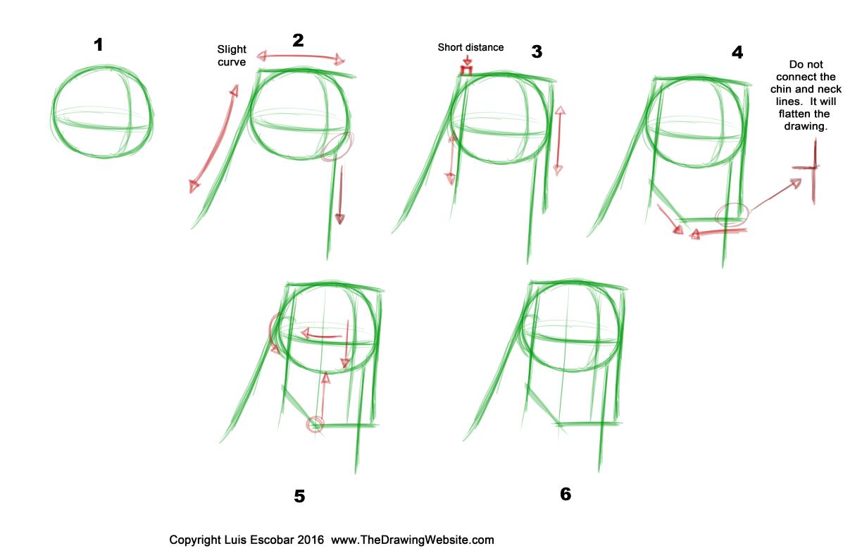 Bruce Timm Style head breakdown