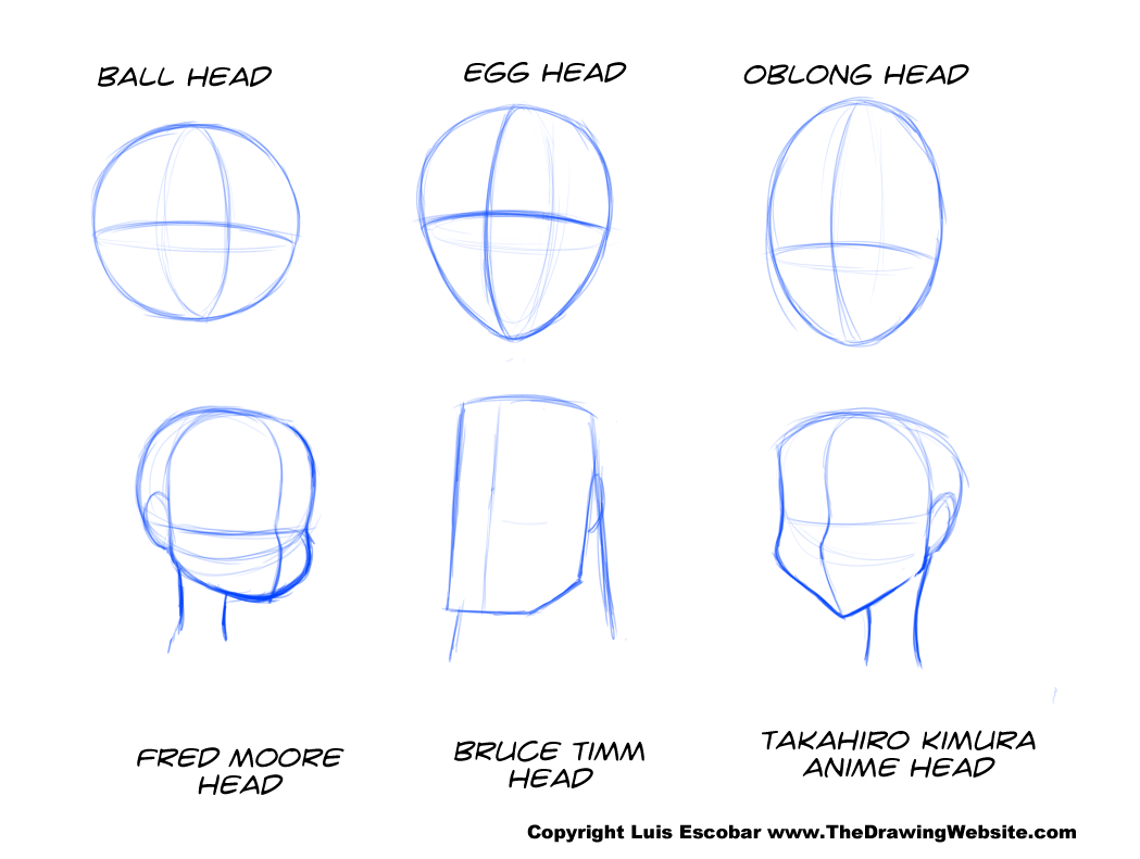 Head drawing shapes 01