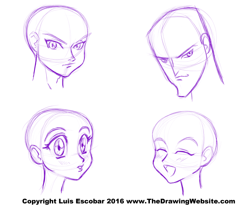 How To Draw Anime Heads Male Short Hairstyle 2013