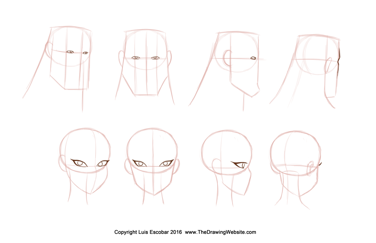 Bruce Timm Style eyes Formula Turn around