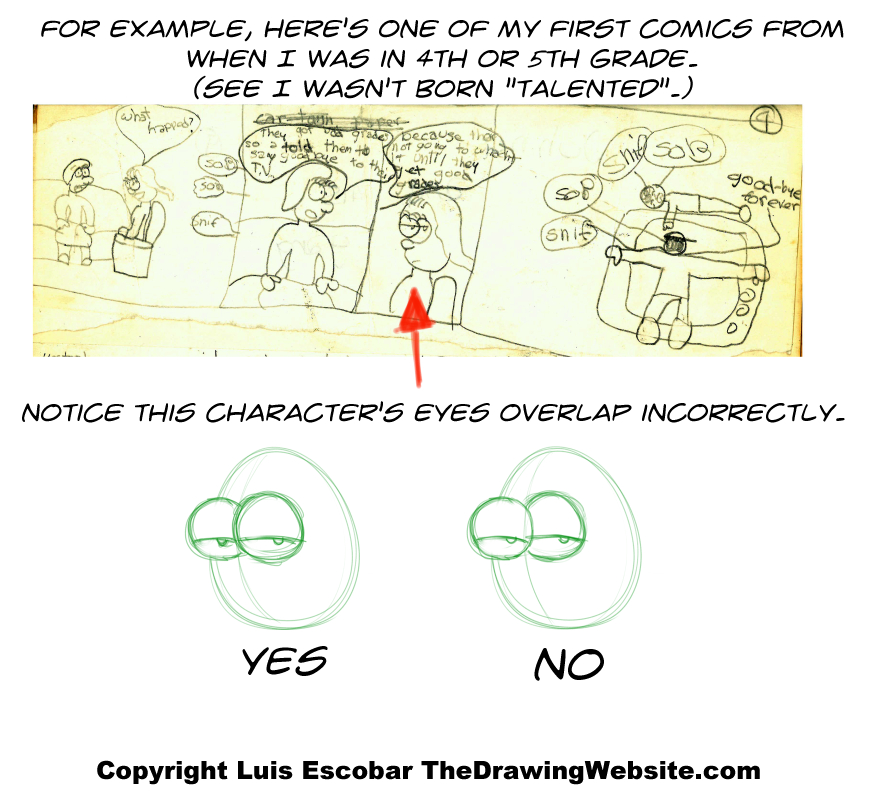 Bubble eyes comic example