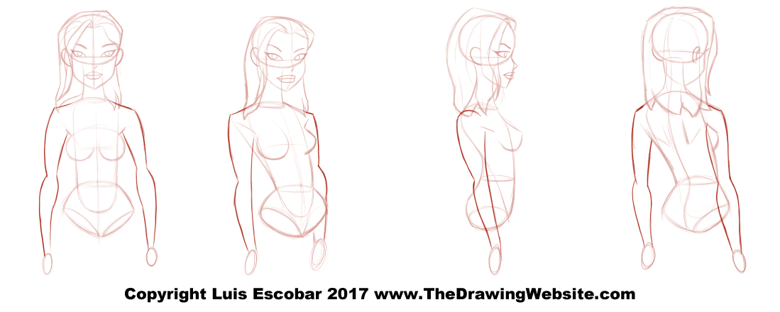 bruce timm style female arm turn around the drawing website